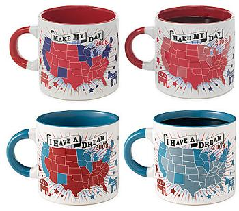 Red and Blue State Mugs