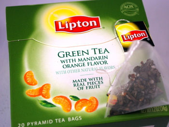 lipton green tea with orange