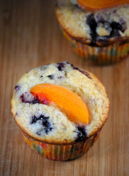 Low Fat Apricot Blueberry Muffin