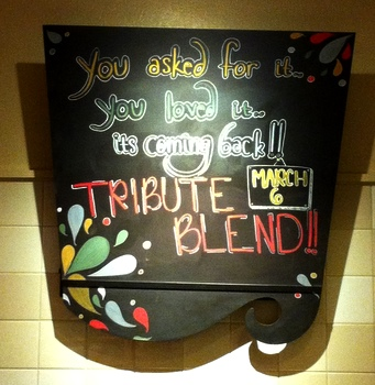 Tribute Blend Sign