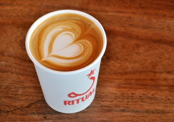 Latte Art from Ritual Coffee