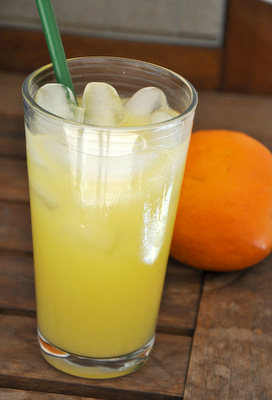 Homemade Valencia Orange Refresher