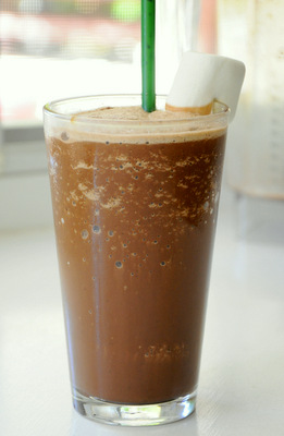 Homemade Rocky Road Ice Blended