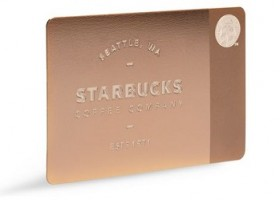 Starbucks launches Limited Edition Metal Gift Cards for 2013