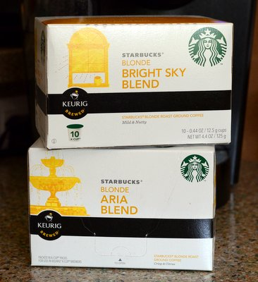 Starbucks Aria and Bright Sky Blonde K Cups