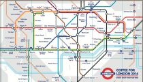 London's Top Coffee Shops on a Tube Map