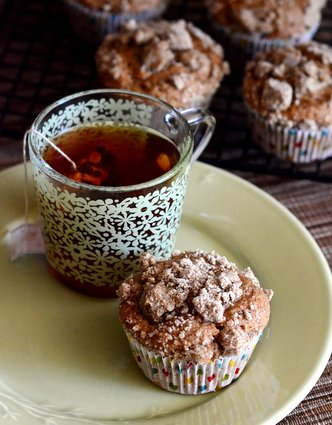 Chai Tea Muffins with Chai Streusel