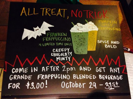 Starbucks Launches Franken Frappuccino for Halloween