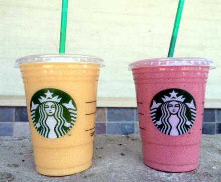 Starbucks Evolution Fresh Mango-Carrot and Strawberry Smoothies