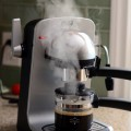 Bistro 4 Cup Espresso Maker in action