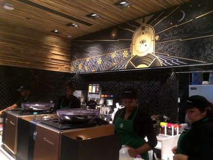 "A Visit to a Starbucks ""Express"" Store in NYC"