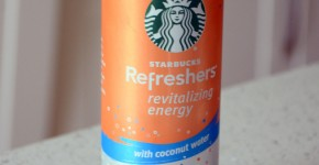 Starbucks Refreshers Revitalizing Energy with Coconut Water in Peach Passion Fruit, reviewed